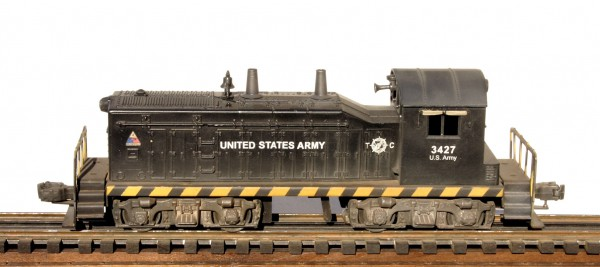 "US Army NW-2 Diesel Switcher 3427(L-NW2USA-Black)_Operates on 3-Rail ""O""Gauge track"