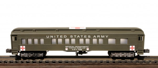 US Army 60′ Troop Hospital Ward Car, runs on O-31 track, U.S.A.4256(SC13BUSA)