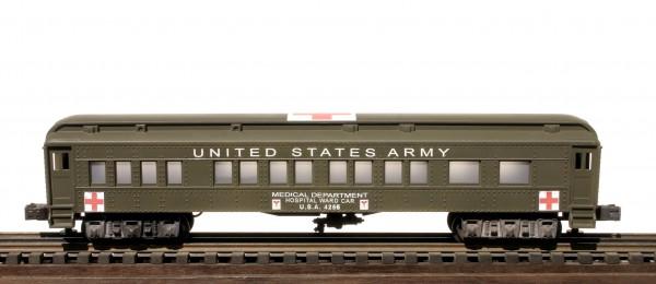 US Army 60′ Troop Hospital Ward Car, runs on O-31 track, U.S.A.4256(SC13BUSA)