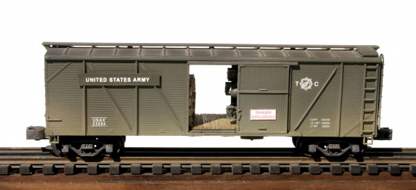 US Army Outside Braced Box Car w/Ammo Cases & Bombs USAX 23054(SC16USA)
