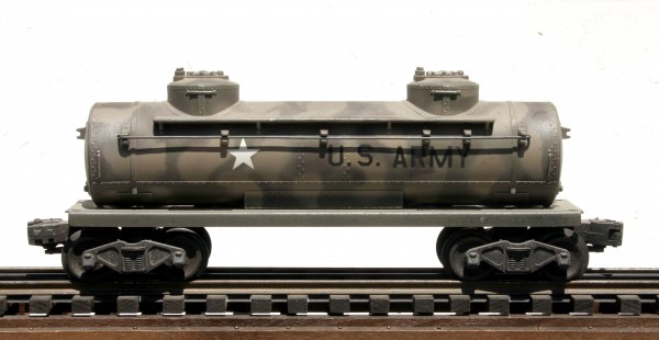 "US Army 2-Dome Tank Car – Camo(SC4.1USA)_Operates on 3-Rail ""O""Gauge track"