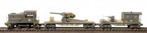 (Photo No. 2919)SET DEMO NO.12, L-41USA, AR2.1-FC2.2USA_155mm Howitzer/40′ Flat, CAB1B-FC1.2USA w/40mmBofor~1