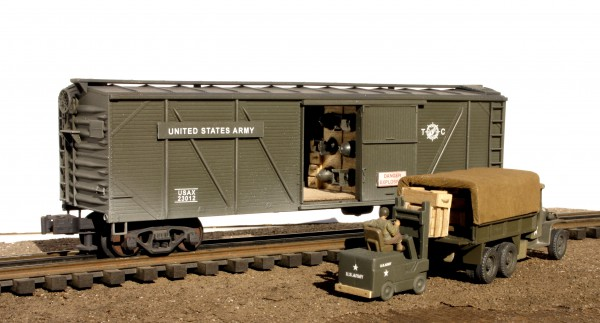 "US Army Bomb Car 3-Pc. Set(SC16USA-Set 1)_Operates on 3-Rail ""O""Gauge track"