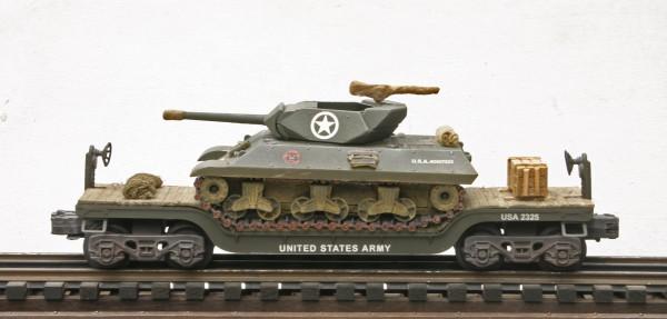 US Army M10 Tank Destroyer on 35′ Drop Center Flat Car USA 2325(AV14-FC5.2USA)