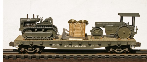 U.S. Army TD-24 Crawler-Tractor w/Detached Dozer Blade & Road Roller USAX 23004(EME37-FC3.2USA)