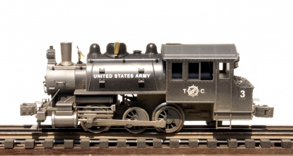 "US Army Base Steam Switcher Engine No. 3(L-28600USA)_Operates on 3-Rail ""O""Gauge track"