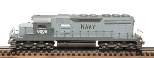 "US Navy SD-40 Diesel Locomotive 6006(L18210USN-BLUE)_Operates on 3-Rail ""O""Gauge track"