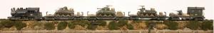(Photo No. 2982) WWII Armor Set_L-28600USA/AV17-FC5.2USA_M3 LEE/AV13.1-FC5.2USA_M4A3 SHERMAN/AV15.1-FC5.2USAM7B1 PRIEST/CAB1B-FC1.2USA_Transport Caboose w/40mm AA Gun