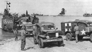 WC54 unloading on the beaches Normandy, June 1944