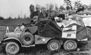 Battle-Damaged WC-63 Ambulance, 1 1/2-Ton, 6 x 6, Truck