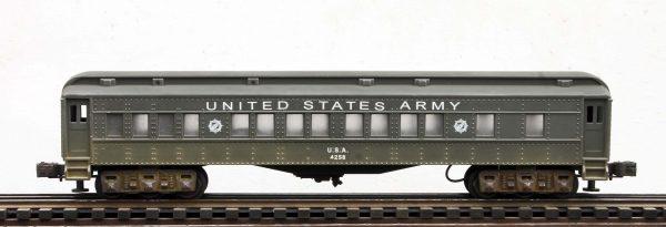 US Army 60′ Troop Passenger Car, runs on O-31 track U.S.A.4258(SC13AUSA)