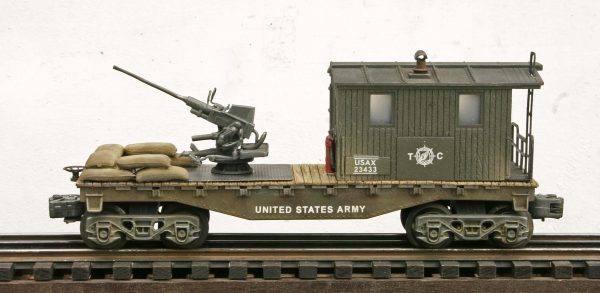 US Army Transport Caboose w/40mm AA Gun USAX 23433(CAB1B-FC1.2USA)