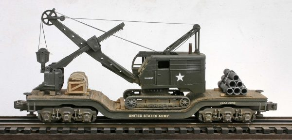 U.S. Army Crawler Shovel on 45′ Drop Center Flat Car USAX 23042(EME26-FC8.2BUSA)