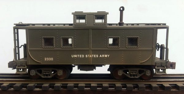 "US Army Transportation Corps Steel Caboose No. 2330(CAB 9USA)_Operates on 3-Rail ""O""Gauge track"