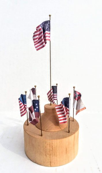 American Civil War Commemorative Flag Display • North/South • 1865 • Available Today •