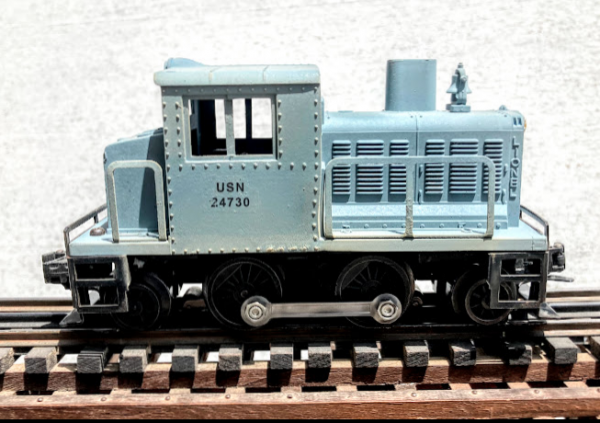 """US Navy 30-Ton Turbine Switcher USN 24730(from Lionel-51USN)_Operates on 3-Rail """"O""""Gauge track  • Available Today •"""