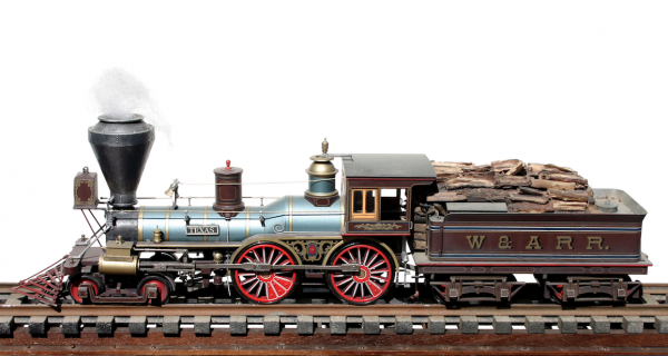 """American Civil War """"Texas"""" W&ARR Commemorative Steam Locomotive & Tender_Operates on 2-Rail """"O"""" Scale track. Custom Finished by Modelcrafters • Available Today •"""